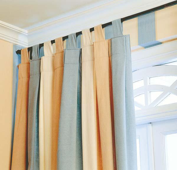 Как повесить шторы без карниза фото